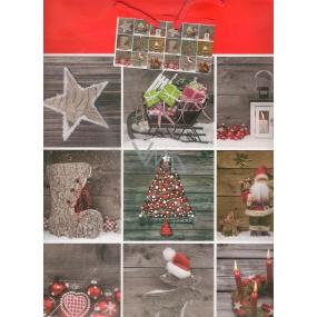 Nekupto Dárková papírová taška velká 32,5 x 26 x 13 cm Vánoční 1478 30 WBL