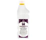 Lavosept K Trnka dezinfekce ploch a nástrojů koncentrát na mytí pro profesionální použití více jak 75% alkoholu 1 l náhradní náplň