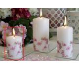Lima Růže s plameňákem vonná svíčka bílá válec 50 x 70 mm 1 kus