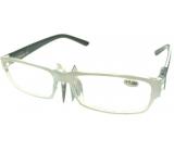 Berkeley Čtecí dioptrické brýle +1,0 plast bílé černé stranice 1 kus MC2062