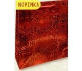 Nekupto Dárková papírová taška velká 32 x 26 x 13 cm Červená hologramová 121 30 THL