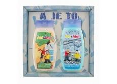 Bohemia Gifts & Cosmetics Kids Pat a Mat - Instalatéři šampon na vlasy 250 ml + sprchový gel 250 ml, pro děti kosmetická sada