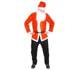 Kostým Santa Claus - bunda, čepice, vousy