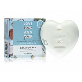 Love Beauty & Planet Kokosová voda a květiny Mimózy tuhý šampon pro objem vlasů 90 g