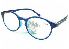 Berkeley Čtecí dioptrické brýle +2,0 plast modročerné, kulaté skla 1 kus MC2182
