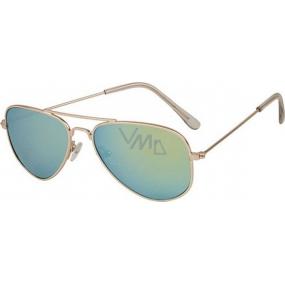 Dudes & Dudettes JK378 zelené sklo sluneční brýle pro děti