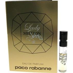 Paco Rabanne Lady Million parfémovaná voda pro ženy 1,5 ml s rozprašovačem, Vialka