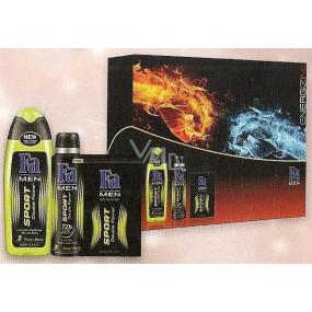 Fa Men Sport Double Power sprchový gel 250 ml + voda po holení 100 ml + deodorant sprej pro muže 150 ml, kosmetická sada