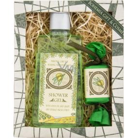 Bohemia Natur Oliva sprchový gel 200 ml + ručně vyráběné mýdlo 30 g, kosmetická sada