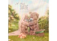 Me to You Blahopřání do obálky 3D K svatbě Svatební medvídci v přírodě 15,5 x 15,5 cm