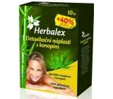 Herbalex Detoxikační náplasti s konopím 14 kusů