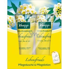 Kneipp Radost ze života sprchový gel 200 ml + tělové mléko 200 ml, kosmetická sada