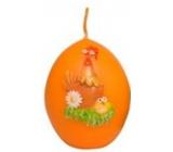 Zvířátka velikonoční svíčka oranžová vajíčko 54 g