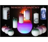 Lima Magická fialová svíčka válec 60 x 120 mm 1 kus