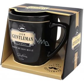 Nekupto Liga Pravých Gentlemanů hrnek v krabičce, Jsem GENTLEMAN, proto mě ženy milují, 7,5 x 9 cm