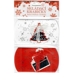 Nekupto Skládací krabička vánoční 2 kusy 140 x 75 x 25 mm 002 IK