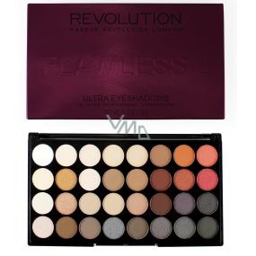 Makeup Revolution Ultra Eyeshadows paletka 32 očních stínů Flawless 2 20 g