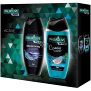 Palmolive Men Refreshing 3v1 sprchový gel na tělo, tvář a vlasy pro muže 250 ml + Men Sport 3v1 sprchový gel na tělo, tvář a vlasy pro muže 250 ml, kosmetická sada