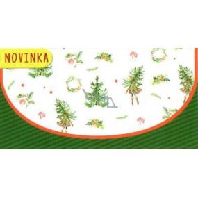 Nekupto Přání obálka na peníze vánoční stromky 116 x 220 mm