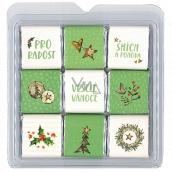 Nekupto Čokoládové puzzle vánoční Stromeček 11 x 11,5 x 0,7 cm, 9 x 5 g
