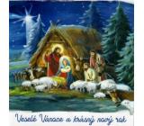 Nekupto Přání k Vánocům Betlém 100 x 100 mm 3573 XI