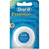 Oral-B Essential Floss voskovaná dentální nit 50 m 1 kus