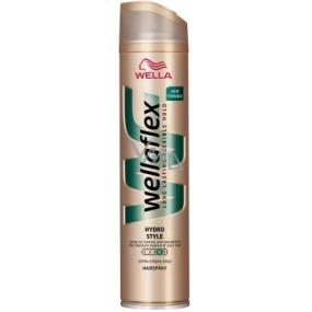 Wellaflex Hydro Style extra silné zpevnění lak na vlasy 250 ml