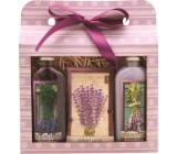 Bohemia Gifts & Cosmetics Lavender sprchový gel 100 ml + olejová lázeň 100 ml + vonný sáček, kosmetická sada