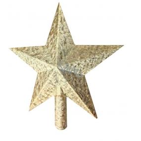 Špice na stromek zlatá 20cm