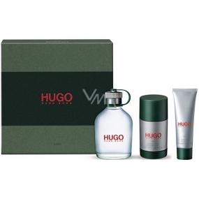 Hugo Boss Hugo Man toaletní voda pro muže 125 ml + deodorant stick 75 ml + sprchový gel 50 ml, dárková sada