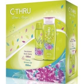 C-Thru Lime Magic deodorant sprej pro ženy 50 ml + sprchový gel 250 ml, kosmetická sada