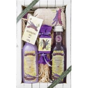 Bohemia Natur Lavender Premium s extraktem z bylin a vůní levandule sprchový gel 200 ml + Vlasový šampon 300 ml + Toaletní mýdlo 30 g + Koupelová sůl 150 g, kosmetická sada