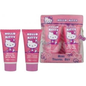 Hello Kitty Mini Travel Set sprchový gel 75 ml + šampon a kondicioner 2v1 75 ml kosmetická sada
