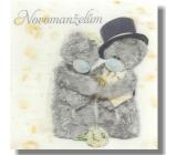 Albi Me To You Blahopřání do obálky 3D K svatbě Svatební medvědi na bílém kapsa 15,5 x 15,5 cm