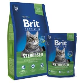 Brit Premium Kuřecí jatra s omáčkou granulky pro kastrované kočky 8 kg Kompletní krmivo