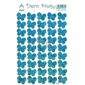 Arch Holografické dekorační samolepky motýlci modré