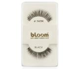 Bloom Natural nalepovací řasy z přírodních vlasů obloučkové černé č. 747M 1 pár