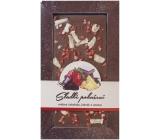 Bohemia Gifts & Cosmetics Mléčná čokoláda Sladké pokušení Jahody a ananas ručně vyráběná 80 g