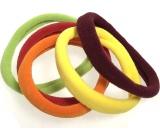 Vlasová gumička žlutá, zelená, červená, oranžová, bordó 5 x 1 cm 5 kusů