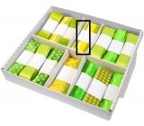 Ditipo Stuha látková Flora zeleno žlutá proužek průsvitná 2 m x 40 mm