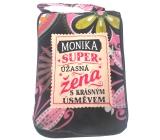 Albi Skládací taška na zip do kabelky se jménem Monika 42 x 41 x 11 cm