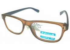 Berkeley Čtecí dioptrické brýle +3,0 plast hnědé světle modré stranice 1 kus R4077