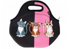 Albi Original Termo svačinová taška Kočka uchová potraviny déle teplé/studené 30 x 27 x 18 cm
