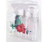Albi Original Cestovní sada lahviček 3 x 80 ml + 2 nádobky + Ledňáček pouzdro - 15 cm x 15 cm x 4,5 cm