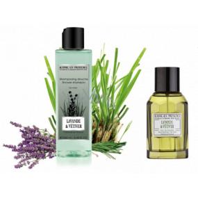 Jeanne en Provence Men Lavande & Vétiver - Lavande & Citronová tráva 2v1 sprchový gel 250 ml + toaletní voda 100 ml pro muže kosmetická sada