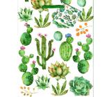 Nekupto Dárková papírová taška střední 18 x 23 x 10 cm Kaktusy 1882 50 KFM