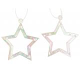 Hvězda plastová závěsná 6 cm 2 kusy