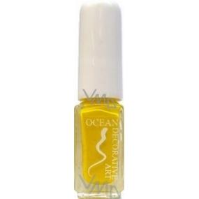 Ocean Decorative Art zdobící lak na nehty odstín 19 žlutý 5 ml