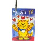 Nekupto Dárková kartička Miluji Tě 7 x 5,5 cm 1 kus, K29 004