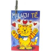 Nekupto Dárková kartička Miluji Tě 7 x 5,5 cm 1 kus